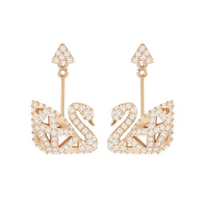 Biżuteria damska Swarovski Jewellery Facet Swan Drop Earrings 5358058