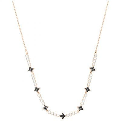 Ladies Swarovski Rose Gold Plated Hake Necklace 5348901