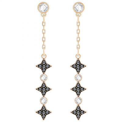 Ladies Swarovski Rose Gold Plated Halve Earrings 5360475