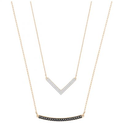 Ladies Swarovski Rose Gold Plated Hero Necklace 5350666