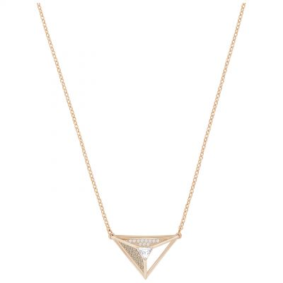 Ladies Swarovski Rose Gold Plated Hillock Necklace 5345297