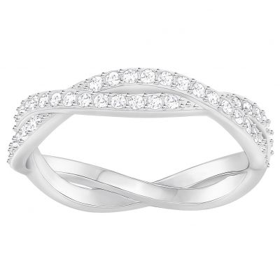 Ladies Swarovski Silver Plated Infinity Ring Size 55 5354820