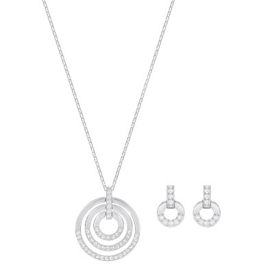 Biżuteria damska Swarovski Jewellery Circle Earring & Necklace Set 5367727