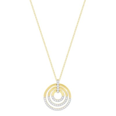 Ladies Swarovski Two-tone steel/gold plate Circle Necklace 5349192