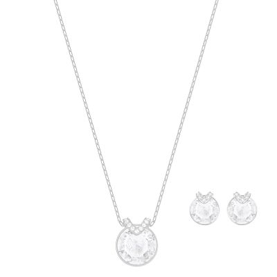 Ladies Swarovski Silver Plated Bella Earring & Necklace Set 5299319