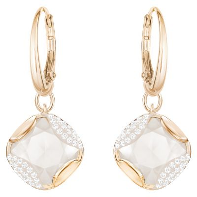 Ladies Swarovski Rose Gold Plated Heap Earrings 5364315