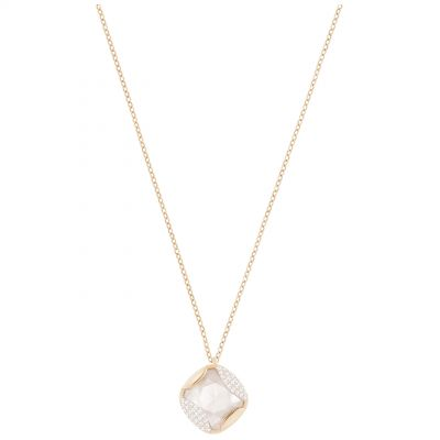 Ladies Swarovski Rose Gold Plated Heap Necklace 5358827