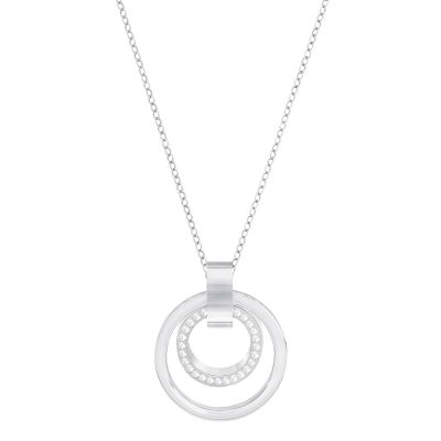 Ladies Swarovski Silver Plated Hollow Necklace 5349345