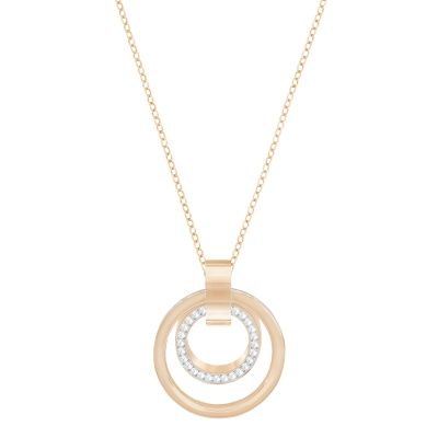 Ladies Swarovski Rose Gold Plated Hollow Necklace 5349418