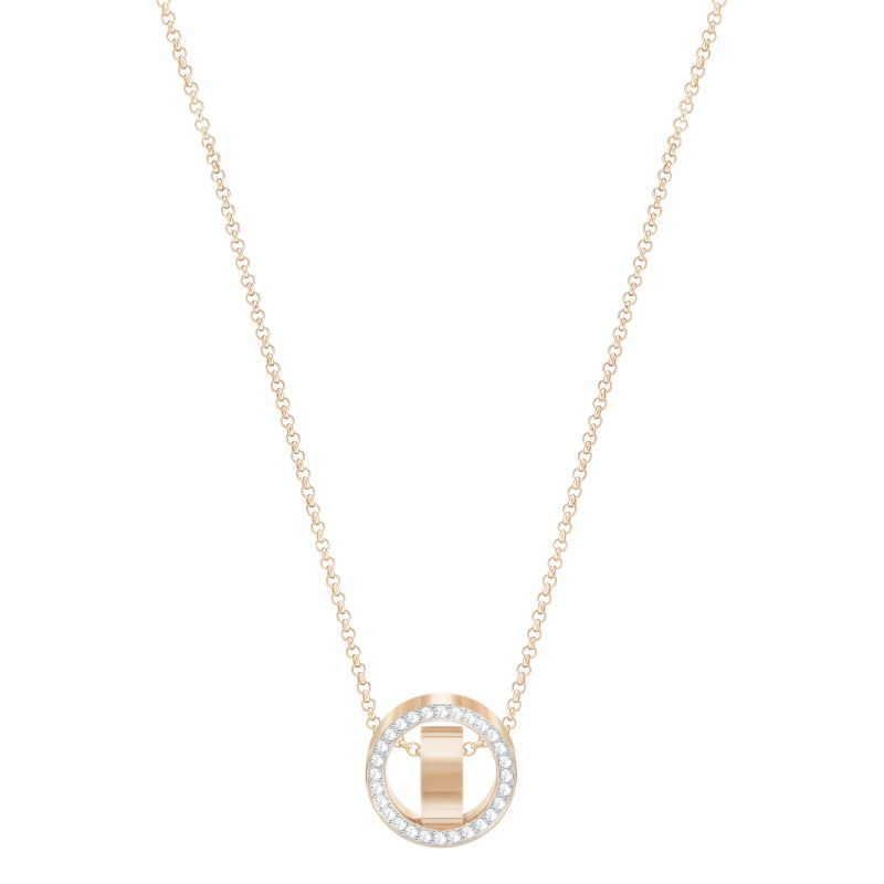 Ladies Swarovski Rose Gold Plated Hollow Necklace 5289495