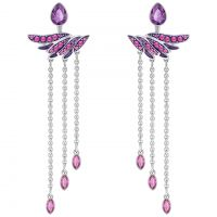 Ladies Swarovski Silver Plated Hearty Earrings 5300989
