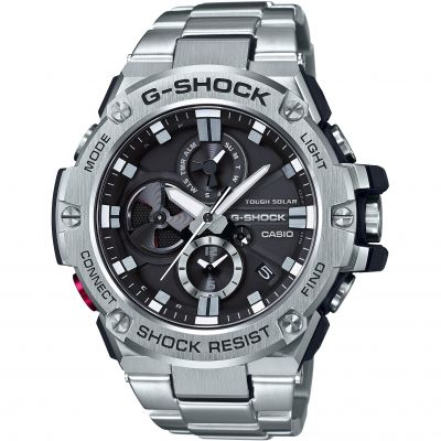 Casio G-Steel Bluetooth Triple Connect Herrkronograf Silver GST-B100D-1AER
