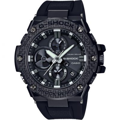Casio G-Steel Bluetooth Triple Connect Carbon Herrenchronograph in Schwarz GST-B100X-1AER