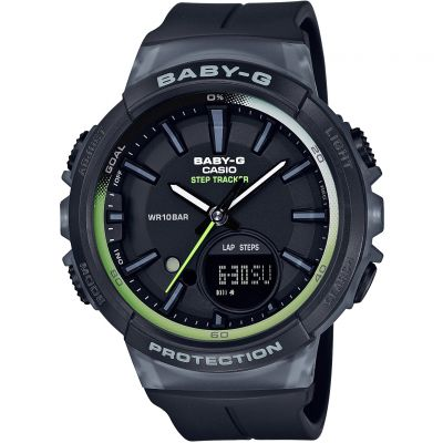 Casio Baby-G Step Counter Damenchronograph in Schwarz BGS-100-1AER