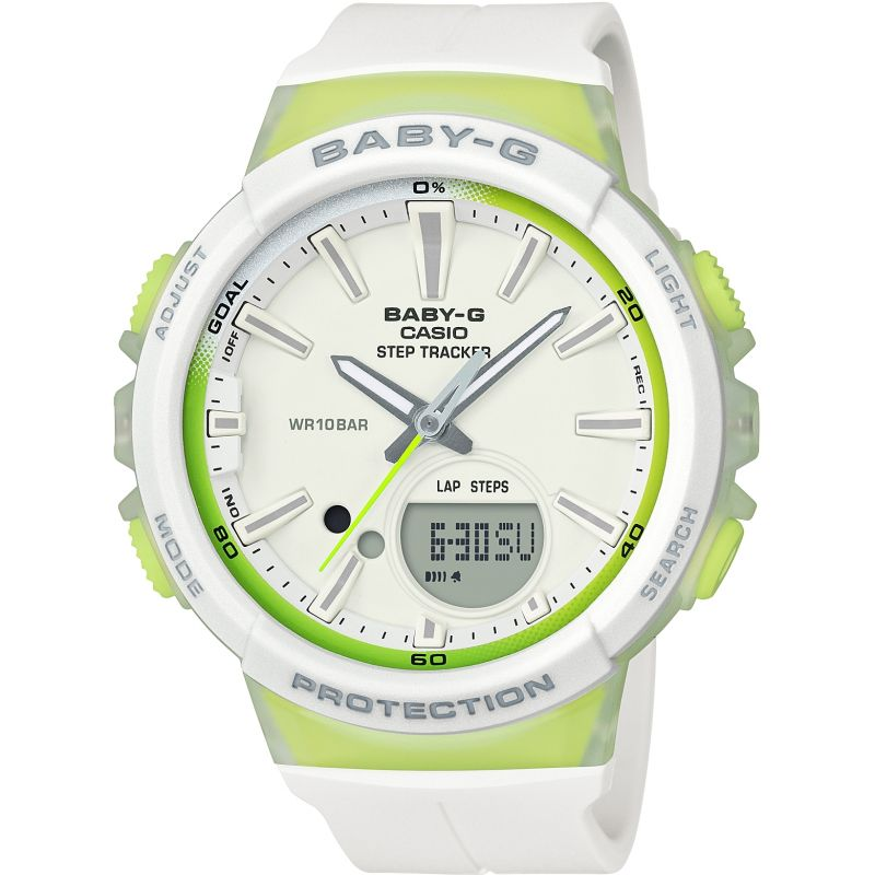 Ladies Casio Baby-G Step Counter Alarm Chronograph Watch BGS-100-7A2ER