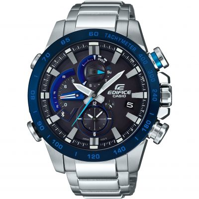Casio Edifice Bluetooth Triple Connect Herrkronograf Silver EQB-800DB-1AER