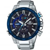 Mens Casio Edifice Bluetooth Triple Connect Alarm Chronograph Watch EQB-800DB-1AER