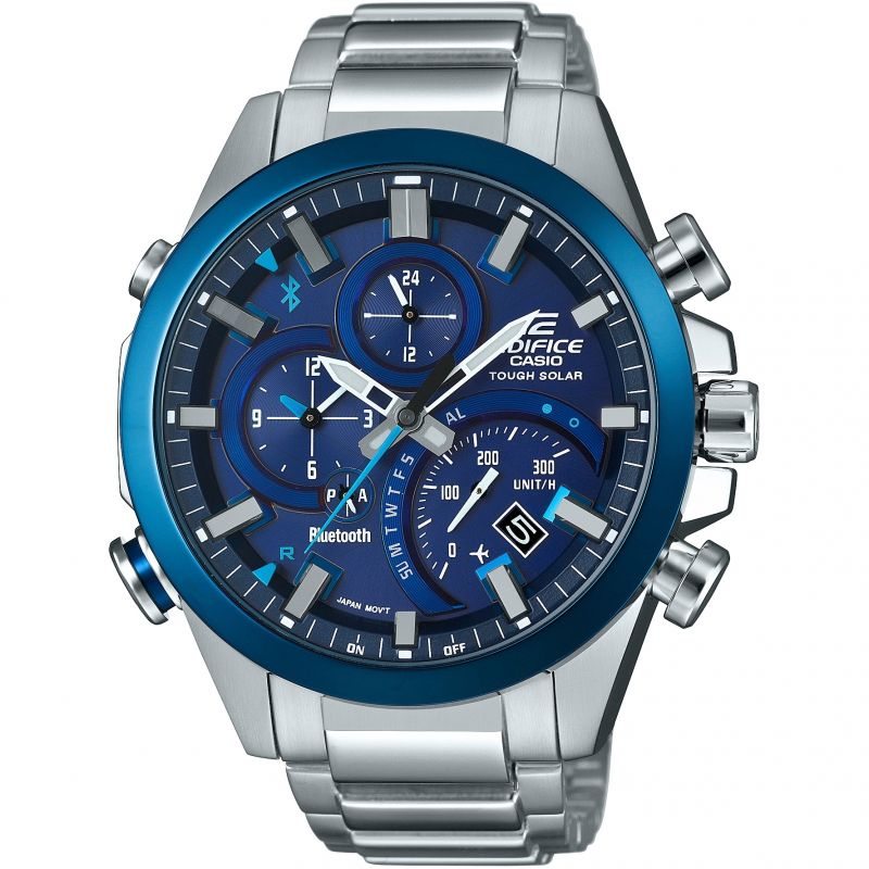 Mens Casio Edifice Bluetooth Chronograph Watch EQB-501DB-2AER