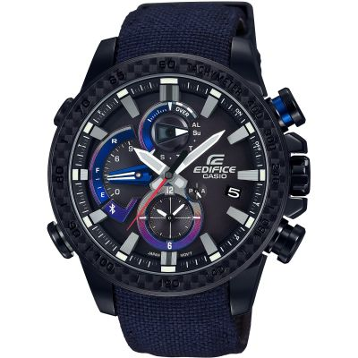 Casio Edifice Bluetooth Triple Connect Toro Rosso Special Edition Herrenchronograph in Blau EQB-800TR-1AER