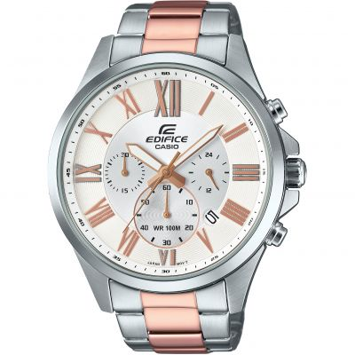 Casio Edifice Retrograde Chrono Herenchronograaf Tweetonig EFV-500SG-7AVUEF