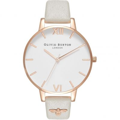Embellished 3D Bee Rose Gold & Grey Watch