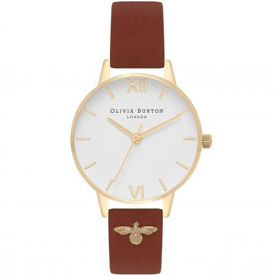 3D Bee Gold & Tan Watch