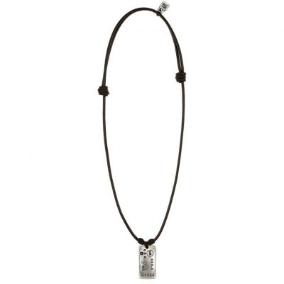 Mens UNOde50 Silver Plated Tes-Oro Necklace COL0738MARMTL0U