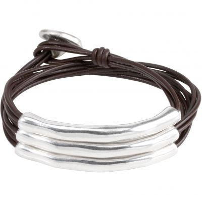 Ladies UNOde50 Silver Plated O No Tubi Bracelet PUL0856MARMTL0M