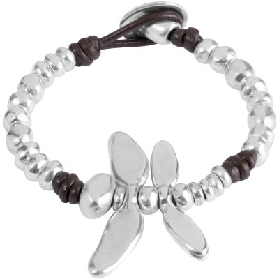 Ladies UNOde50 Silver Plated Dragonfly Bracelet PUL1367MTLMAR0M