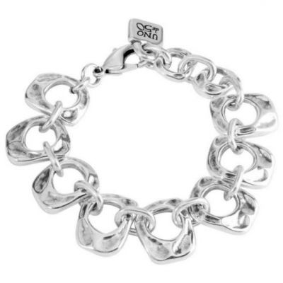 Ladies UNOde50 Silver Plated You Belong To Me Bracelet PUL1387MTL0000M