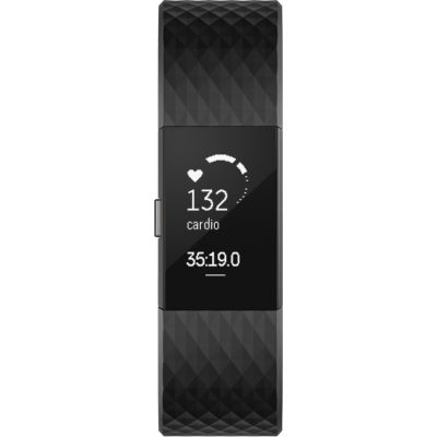 Fitbit Large - Black/Gunmetal Charge 2 Special Edition Bluetooth Fitness Activity Tracker Unisexuhr in Schwarz FB407GMBKL-EU