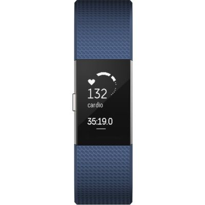 Unisex Fitbit Charge 2 Bluetooth Fitness Activity Tracker Watch FB407SBUL-EU