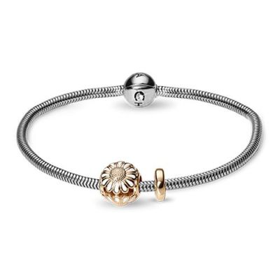 Ladies Christina Sterling Silver 19cm Bracelet With Charm 615-19G-MARGUERITE