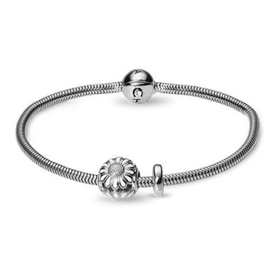 Ladies Christina Sterling Silver 19cm Bracelet With Charm 615-19S-MARGUERITE