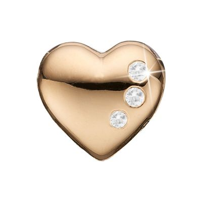 Ladies Christina Gold Plated Sterling Silver Secret Hearts Bead Charm 623-G06