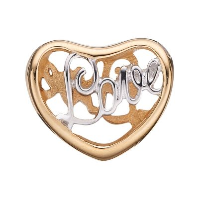 Ladies Christina Gold Plated Sterling Silver Love Bead Charm 623-G12