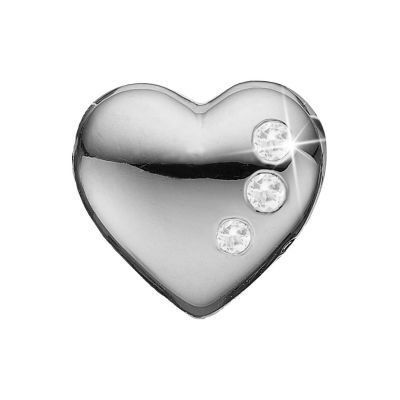 Ladies Christina Sterling Silver Secret Hearts Bead Charm 623-S06