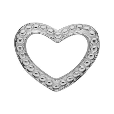 Ladies Christina Sterling Silver Heart Dots Bead Charm 623-S08