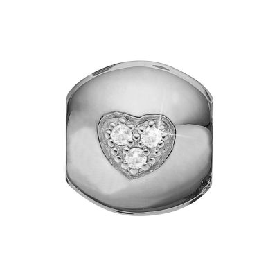 Ladies Christina Sterling Silver Topaz Heart Dream Bead Charm 623-S09