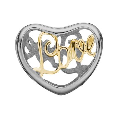 Ladies Christina Sterling Silver Love Bead Charm 623-S12