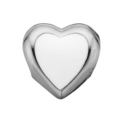 Ladies Christina Sterling Silver Big Enamel Heart Bead Charm 623-S14
