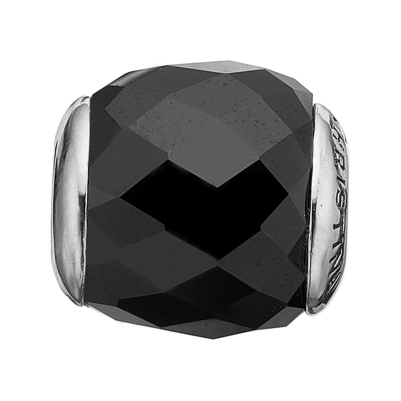 Ladies Christina Sterling Silver Precious Black Bead Charm 623-S37
