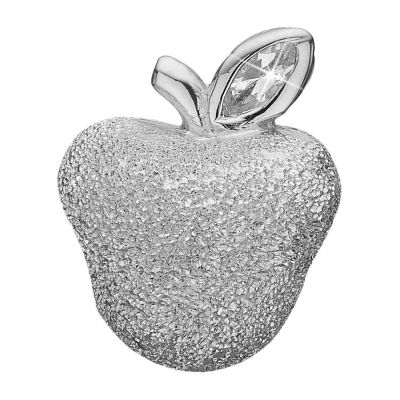 Ladies Christina Sterling Silver Sparkling Apple Bead Charm 623-S81