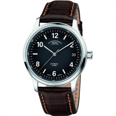 Mens Muhle Glashutte Lunova Datum Automatic Watch M1-43-16-LB