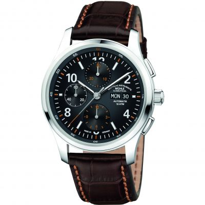 Mens Muhle Glashutte Lunova Chronograph Automatic Chronograph Watch M1-43-06-LB