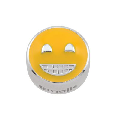 Ladies Persona Sterling Silver Grin Emoji Bead Charm H14985P1