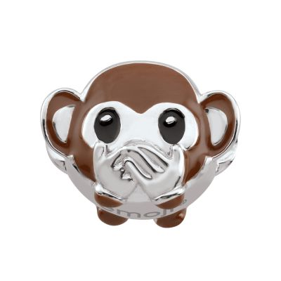 Ladies Persona Sterling Silver Speak No Evil Monkey Emoji Bead Charm H14990P1