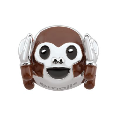 Persona Dam Hear No Evil Monkey Emoji Bead Sterlingsilver H14991P1