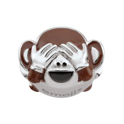 Damen Persona See No Evil Monkey Emoji Bead Charm Sterling-Silber H14992P1