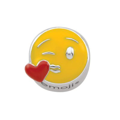 Ladies Persona Sterling Silver Blow A Kiss Emoji Bead Charm H14956P1